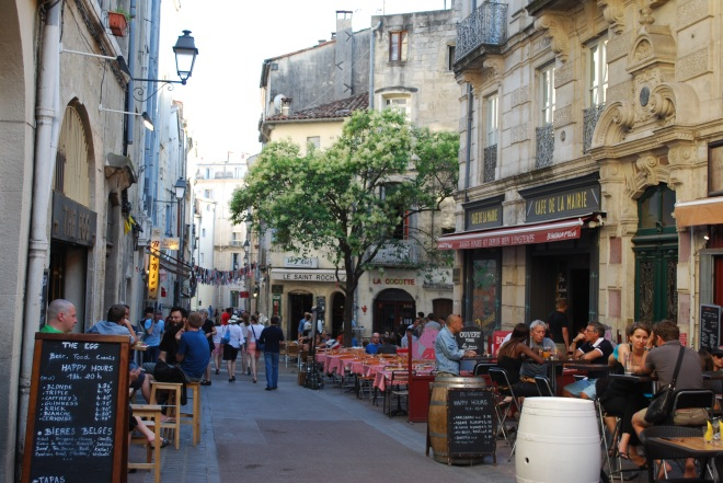 Cafe Culture: a typical scene in Montpellier